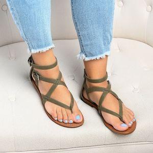 Olive Perfect Gladiator Sandals